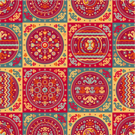 patchwork pattern: seamless patchwork pattern. Ethnic geometric print. Wallpaper, pattern fills, web page background, surface textures. Wrapping. Festive packaging. Geometric carpet.