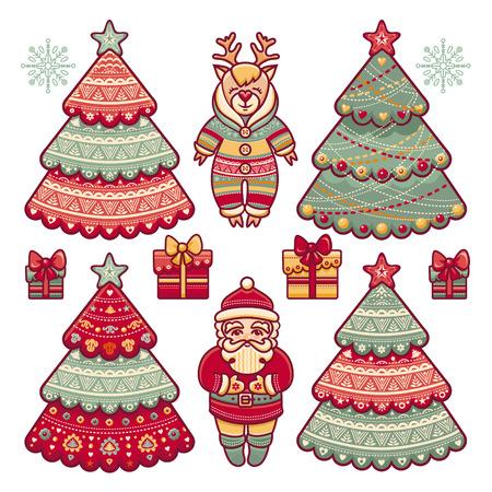 angel reindeer santa claus snowflake gift box christmas tree set - Sign Up For Free Christmas Toys