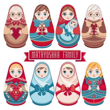 girl doll: Matryoshka. Russian folk nesting doll. Babushka doll