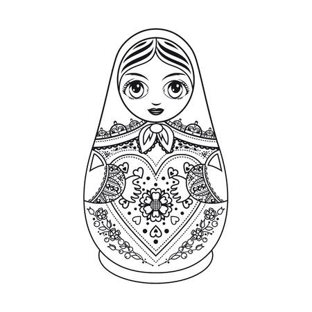 Matryoshka. Russian folk nesting doll. Babushka doll