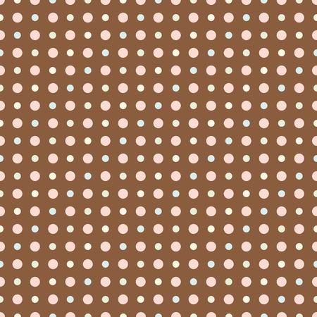 pastel color: Dot seamless pattern. Dot pattern background. Retro style. Pastel color Illustration