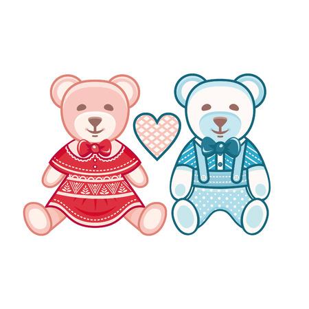 ourson: oursons mignons. Mignon ourson. Garçons et filles. Un couple d'amoureux des ours.