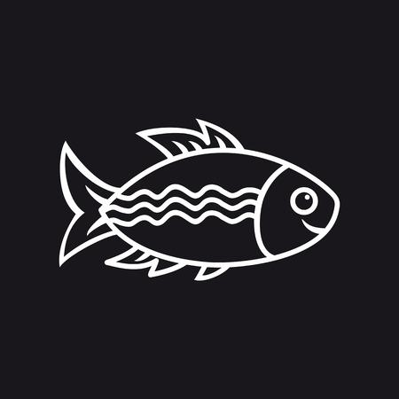 fish icon: Fish. Fish Icon. Illustration