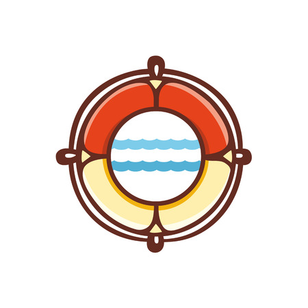 lifebuoy: Lifebuoy. Vector illustration on white background