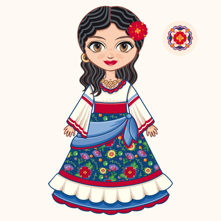 Gypsy girl. Historic clothes