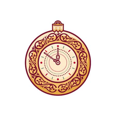 midnight hour: Christmas watch. Clock.