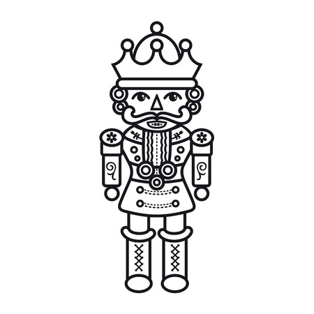nutcracker: Nutcracker. Monochrome. Illustration