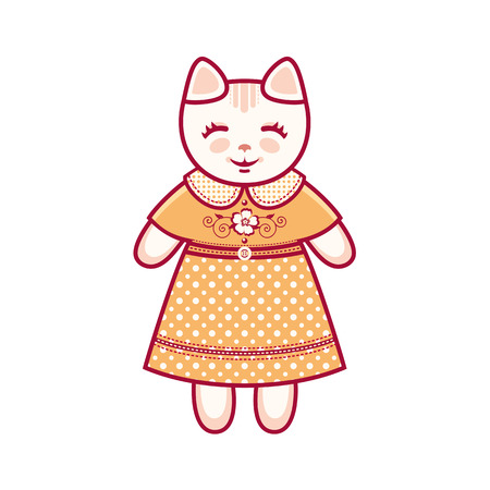 cute baby girls: Cute cat. Vector illustration Illustration