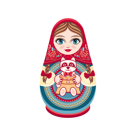 matreshka: Matryoshka. Vector illustration on white background.