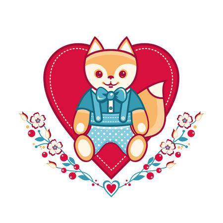 cute: Cute fox. Illustration