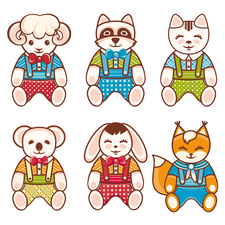 brute: Childrens toy. Animals. Set.