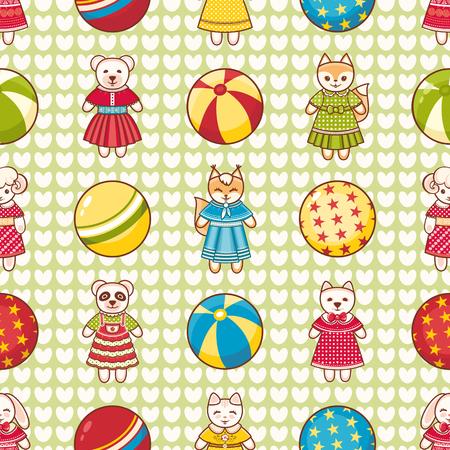 children's: Childrens toy. Seamless pattern. Illustration