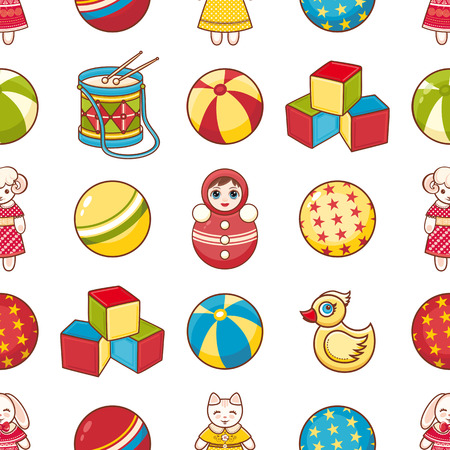 jointless: Childrens toy. Seamless pattern. Illustration