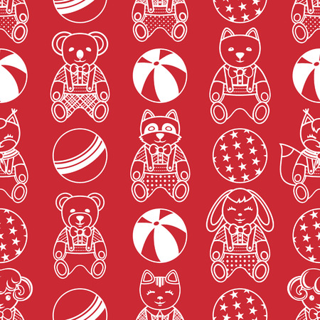 jointless: Childrens toy. Seamless pattern. Monochrome.