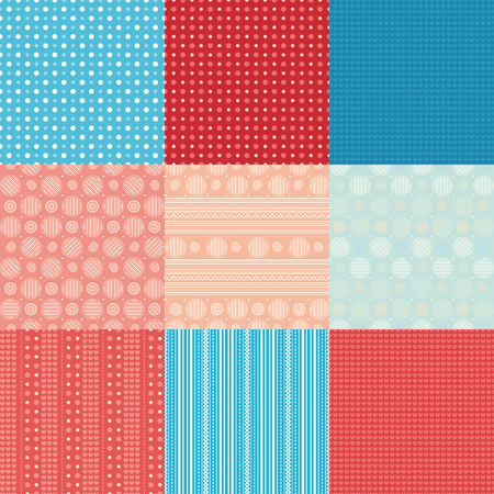 patchwork: Patchwork. Geometric pattern. Illustration
