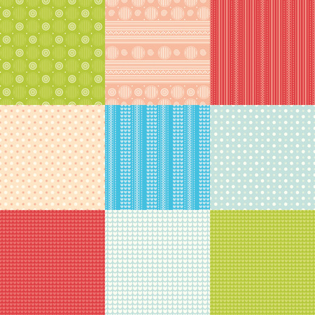 patchwork pattern: Patchwork. Geometric pattern. Illustration