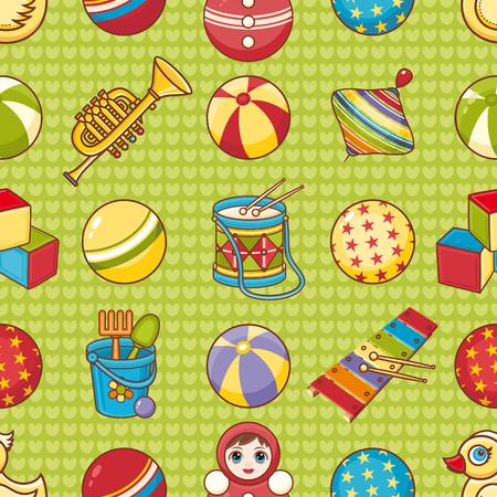 Seamless pattern. Children's toys. Vektoros illusztráció