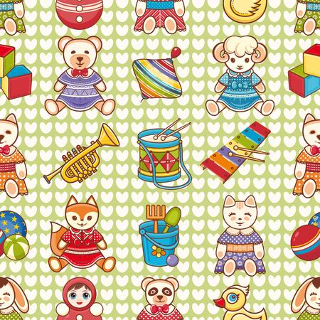 Seamless pattern. Children's toys.