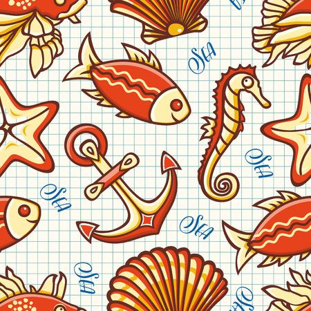 sea shell: Marine pattern. Seamless. Sea background. Nautical pattern. Sea shell. Sea life. Marine icon. Marine background. Nautical background. Nautical icon. Sea icon. Sea pattern.