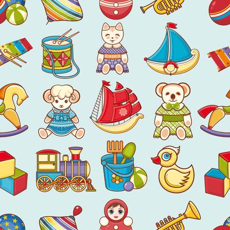 toddler: Toy kids. Seamless pattern. Baby background. Toddler toys.