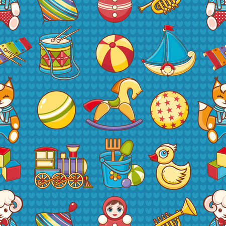 baby toys: Toy kids. Seamless pattern. Baby background. Toddler toys.