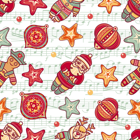 christmas toy: Christmas toys. Seamless pattern. Holiday background. Best for greeting cards, invitations, wrapping paper.