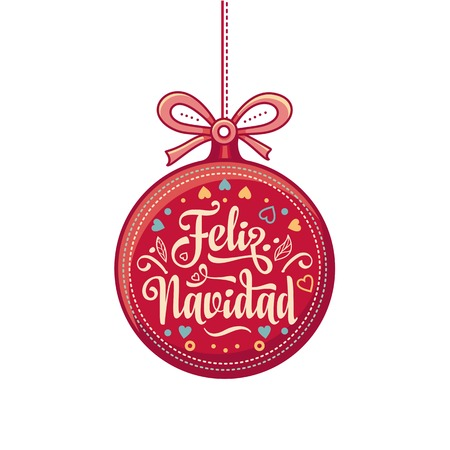 christmas decorations for invitations and greeting cards in spanish stock vector 73023998