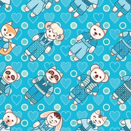 brute: Childrens toy. Animals. Seamless pattern. Vector illustration. Illustration