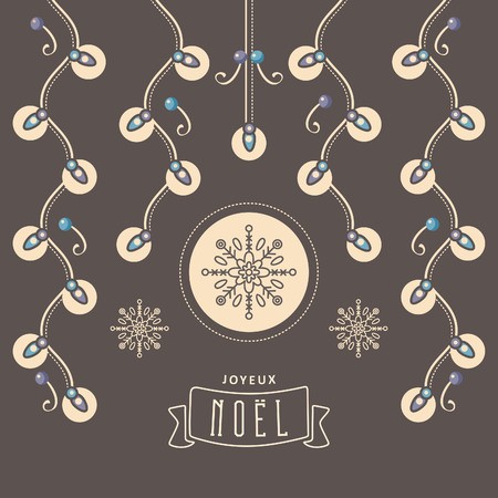 joyeux: Nativity message. Original vector drawing. Happy new year illustration. Illustration