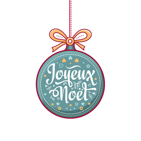 joyeux: Colorful greeting card for holidays. Cartoon style. Invitation card. Colorful template.