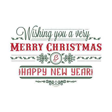 Merry Xmas Lettering composition. Greeting card