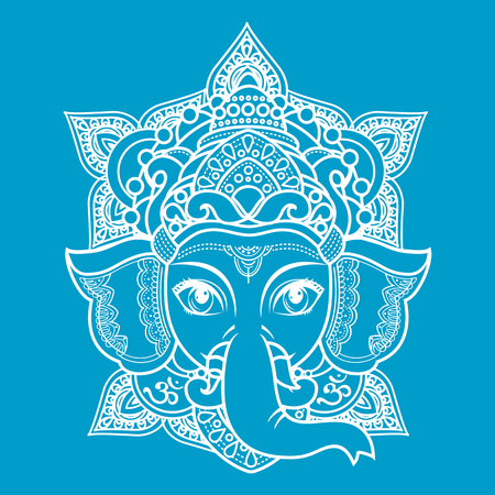 Lord Ganesha. Vector illustration of  colorful Happy Lord Ganesh for Ganpati Chaturthi. Illustration