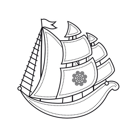 little sailboat. Childrens toy.  Best for alphabet Illustration