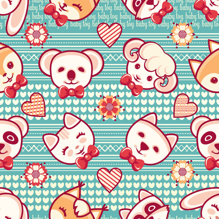 Kid toy seamless pattern. Design element for postcard, banner, flyer, poster or print.