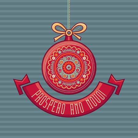 Colorful greeting card for holidays vector