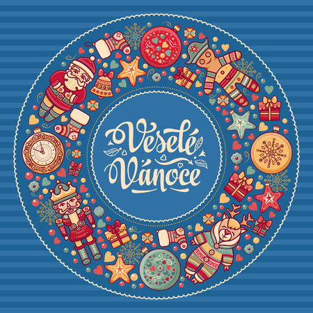 stive: Vesele vanoce -  greeting cards. Xmas in the Czech Republic. Translation from Czech - merry Christmas!