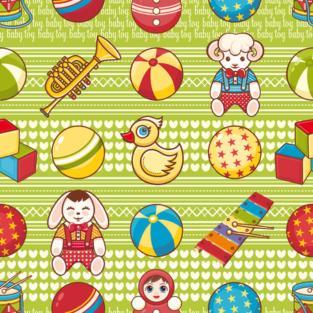 tile pattern: Kid toy seamless pattern. Design element for postcard, banner, flyer, poster or print.