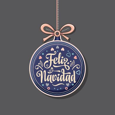 フェリス ・ ナヴィダ。スペイン語のクリスマス カード。スペインの幸せな休日のための暖かい願い。英語翻訳: メリー クリスマス。