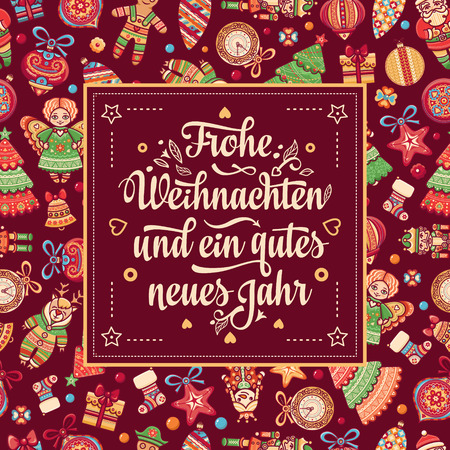 Frohe Weihnacht. Xmas Congratulations in German language. Christmas in Belgium, Austria, Liechtenstein, Switzerland. Happy Christmas in Deutschland.