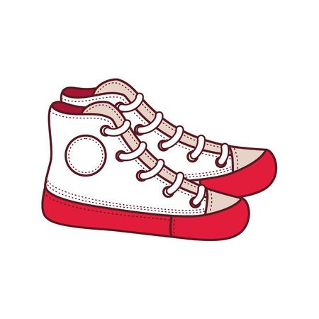 Fashion footwear cartoon style illustration.