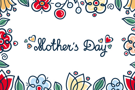 Greeting card mother's day. 向量圖像