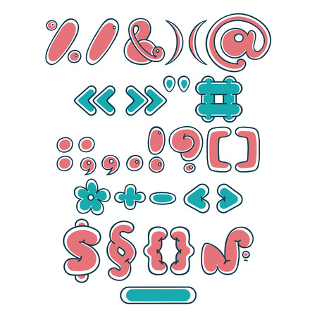 Punctuation marks. Cartoon cute letter bubble symbol