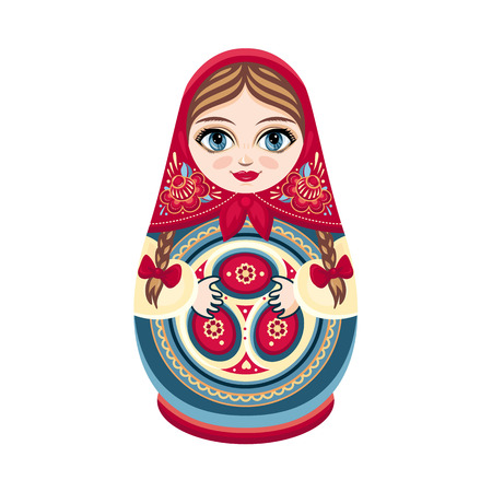 Matryoshka. Russian souvenir. Soccer balls for children. Football.