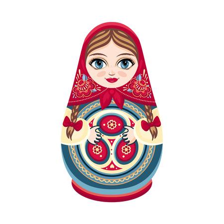 Matryoshka. Russian souvenir. Soccer balls for children. Football. Foto de archivo - 103056726
