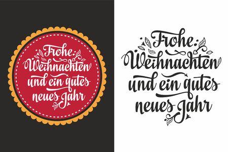 Frohe Weihnachten.German Xmas. typography letter.Christmas in Belgium, Austria, Liechtenstein, Switzerland.Happy Christmas in Deutschland.Neues Jahr.Deutsche Weihnachten.Weihnachtskarte.Prosit Neujahr 版權商用圖片 - 130229420