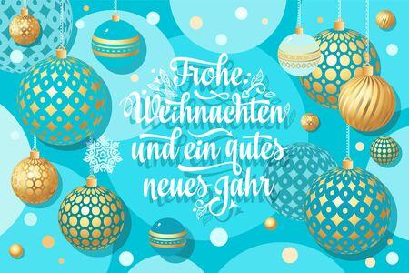 Christmas. Weihnachten. Noel. German Christmas in different languages. Deutsche holiday Weihnachtsfest - Frohe Weihnachten, neue Jahr, Neujahrstag. Xmas greeting card Weihnachtskarte.German lettering 版權商用圖片 - 130229430