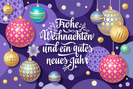 Christmas. Weihnachten. Noel. German Christmas in different languages. Deutsche holiday Weihnachtsfest - Frohe Weihnachten, neue Jahr, Neujahrstag. Xmas greeting card Weihnachtskarte.German lettering