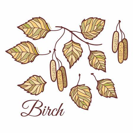 Oak leaves in stained illustration. Green oak, acorns and leaves. Autumn design.Forest themes. Autumn isolated leaves. Oak leaves autumn. Fall design Set. Hugge leaf set 版權商用圖片 - 130229595
