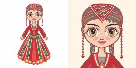 Armenian girl in national costume. Design 版權商用圖片 - 130241396
