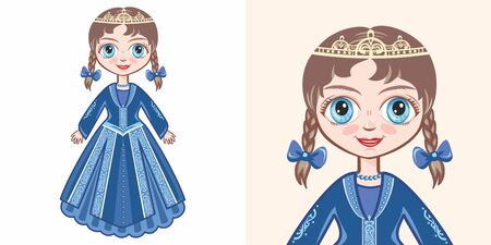 Little princess. Design Illustration